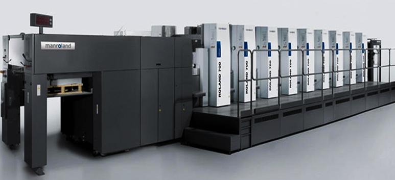 印刷机_雨晨包裝引进roland六色上光平张印刷机