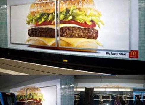 麦当劳餐厅内的产品宣传海报、店内条幅和海报.-印务网图片